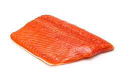Raw Sockeye or Coho Salmon Fillet Royalty Free Stock Photos