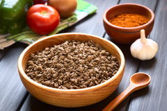 Raw Soy Meat Stock Photo