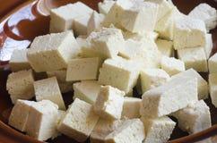 Raw soya tofu Stock Images