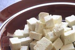 Raw soya tofu Royalty Free Stock Photo