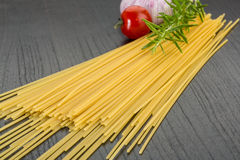 Raw spagetti Stock Image