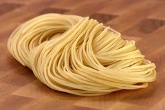 Raw spaghetti Stock Photography