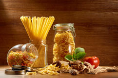 Raw Spaghetti Royalty Free Stock Photography