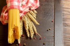 Raw spaghetti for cook elaborations recipe Royalty Free Stock Images