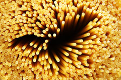 Raw spaghetti noddles closeup Stock Photo