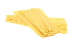 Raw spaghetti noodles pasta Royalty Free Stock Photo