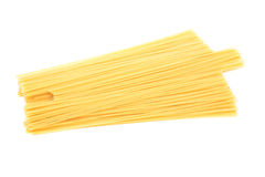 Raw spaghetti noodles pasta Royalty Free Stock Images