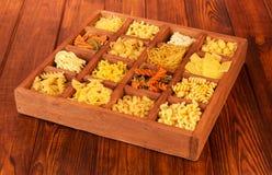 Raw spaghetti and pasta Stock Image