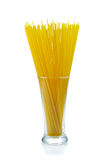 Raw spaghetti on white  background. Royalty Free Stock Photography