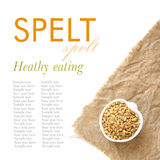 Raw spelt in a bowl Stock Images
