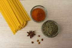 Raw spice pasta badyan stock photo