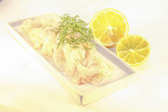 Raw spiced white fish Royalty Free Stock Photo