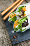 Raw spring rolls Royalty Free Stock Image