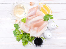 Raw squid . Royalty Free Stock Photos