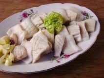 Raw squid slices pile  Stock Image