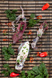 Raw Squid Stock Photo