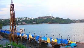 Raw of Stalls at Dona Paula, Panaji, Goa. This is a photograph of raw of stalls, captured at Dona Paula, Panaji, Goa Stock Photography