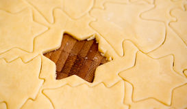 Raw star cookie royalty free stock photography