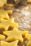 Raw Star-Shaped Cookie Stock Photos