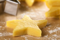 Raw Star-Shaped Cookie Royalty Free Stock Photos