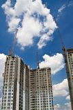 Raw state residential highrise and jib crane Stock Photo