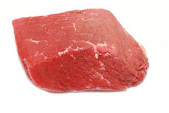 Raw steak. Isolated on white background royalty free stock photos