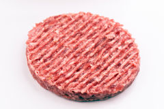 Raw steak burger Royalty Free Stock Image