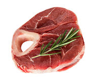 Raw steak  close-up isolated Stock Photos
