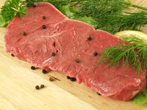 Raw steak, closeup Royalty Free Stock Photos