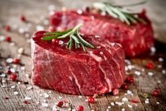 Raw steak Royalty Free Stock Images