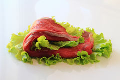 Raw steak of meat Stock Photos