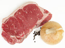 Raw Steak Onion and pepper Royalty Free Stock Image