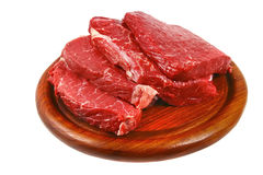 Raw steak over on plate Stock Photography