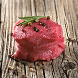 Raw steak with pepper Stock Photo