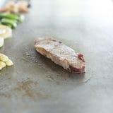 Raw steak tepanyaki Royalty Free Stock Photo
