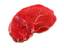 Raw steak on white background Royalty Free Stock Image