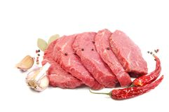 Raw steaks Royalty Free Stock Image