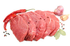 Raw steaks Stock Images