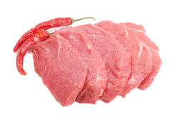 Raw steaks Royalty Free Stock Photography