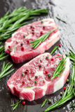 Raw steaks Royalty Free Stock Photo