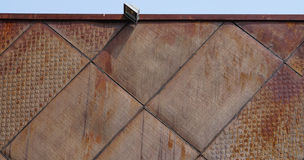 Raw steel exterior facade Royalty Free Stock Images