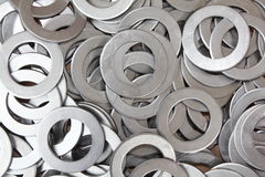 Raw steel parts. CNC punched raw steel parts hole punched Stock Image