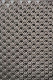 Raw steel parts. CNC punched raw steel parts hole punched scrap sheet Royalty Free Stock Photo