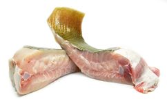 Raw stingray meat. Isolated on white background Stock Photo