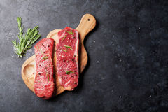 Raw striploin steak Royalty Free Stock Photography