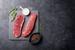 Raw striploin steak Royalty Free Stock Image
