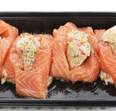 Raw Stuffed Salmon Stock Image
