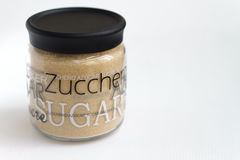 Raw sugar container Stock Image