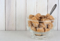 Raw Sugar Cube Bowl Stock Photo