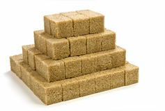 Raw sugar cubes Stock Image